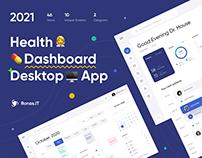 Health Dashboard - Desktop App | UI/UX Design