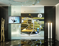 Futuristic interior design