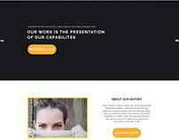 WoaJany Responsive OnePage Web PSD Template