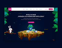 LOVI landing page with contest