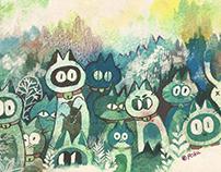 고양이의 숲 _ Forest of cat