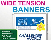 Wide tension banner