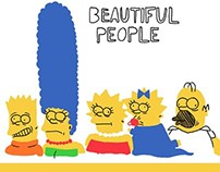 The Simpsons - famous paintings reimagined- SKETCHES