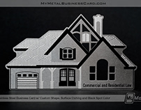 Custom Shape Real Estate Metal Business Card