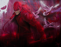 DAREDEVIL painting