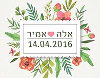 Ella ♥ Amir |  wedding invitation design
