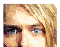 Kurt Cobain | Low Poly Illustration