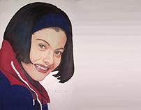 KAJOL's PORTRAIT | Poster Color Painting