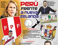 Perú frente a Nueva Zelanda