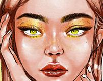 Watercolour portrait speed paint.