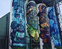 Graffiti las cuatro torres de Omalli