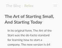 Minimalist Blog Page Design