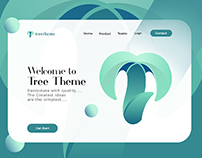 Branding for Treetheme with header part of the websit