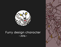 Furry Design character (in process, lineart)