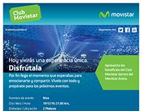Mejora comunicación invitaciones eventos Club Movistar