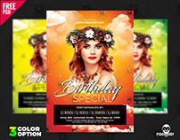 Birthday Special Flyer PSD