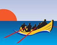 Logo, communicatie St. Ayles Skiff Regatta