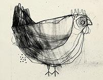 Kurczaki! Ilustracje.