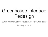 Greenhouse Redesign