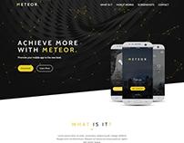 METEOR App Landing Page