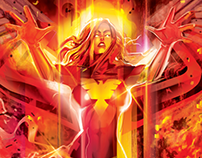 OFFICIAL DARK PHOENIX-SIDESHOW PRINT-vector