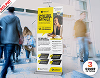 Business Promotion Roll up PSD Template