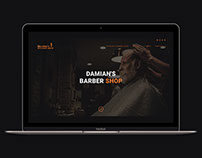 Web design minimal website for BarberShop