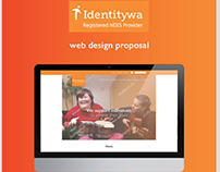 IDENTITYWA // web design proposal