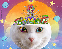 Psychedelic Cat / Anh Thu