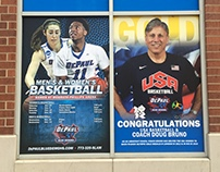 DePaul Men/Women's Basketball Window Banner
