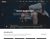 Musisi - Music Band or Musician WordPress Theme