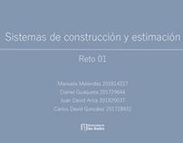 Sistemas de Construcción y Estimación: RETO 01