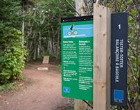 Robinsons Island Trail wayfinding system