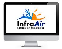 Criação de logo para a empresa InfraAir