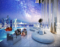 Design and visualisation of penthouse in Moscow