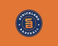 Strickland Baseball Company Logo Design