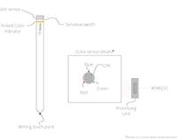 Electronic color Sensing Stylus