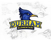 Durham Elementary RoadRunner Mascot Logo