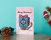 Christmas cat! Cards 2020