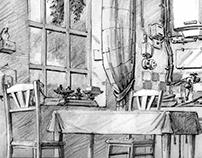 """layout décor pour """" le jour des corneilles"""""""