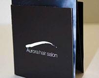 Tri-fold Duo tone hair salon Brochure 2010