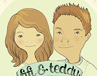Fifi & Teddy Wedding Invitation
