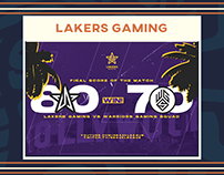 Lakers Gaming Rebrand
