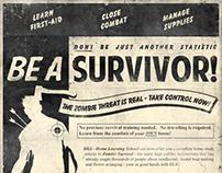 """Zombie Survival"" 13x19 Inch Print"