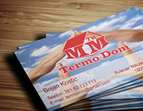 Business card design for Heating equipment store