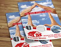 Leaflet design for Heating equipment store