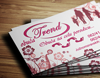 Business card design for Shoes store