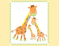 Illustration-My giraffe family