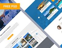 GreeceTour website FREE PSD