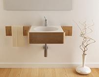 Corian & wood - sink